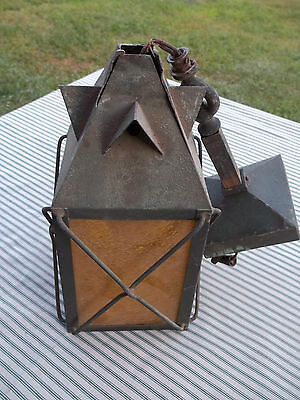 As Found Unpolished Copper Arts & Crafts Porch Light, Needs Repaired, Free S/H
