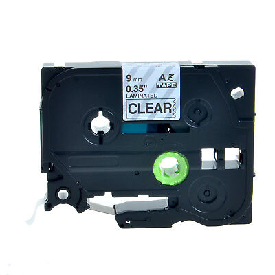 """1PK TZ-121 Black on Clear Tape Label For Brother P-Touch PT-1280 TZe-121 0.35"""""""