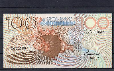 SEYCHELLES Africa 100 Rupees UNC 1983 p-31 Low Serial Number Series C
