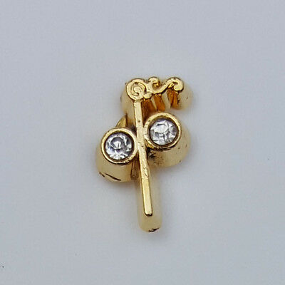 Masonic Two Ball Cane Small Tiny Lapel Pin Mason Freemason