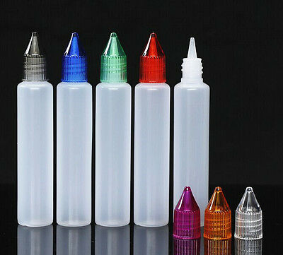 30ml Unicorn dropper bottle vapor bottle PMMA screw cap wider opening 100 sets