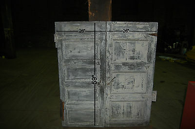 Antique 5 Panel Pair Wood  Board Cellar Door / Barn Door Archictectural Salvage