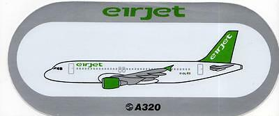 Airbus A320 Eirjet - Ireland Airline Sticker (Extremely Rare Defunct )