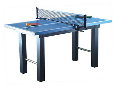 Kids Wooden Ping Pong Table on Legs - Free-Standing Childrens Tennis 120 x 67 cm