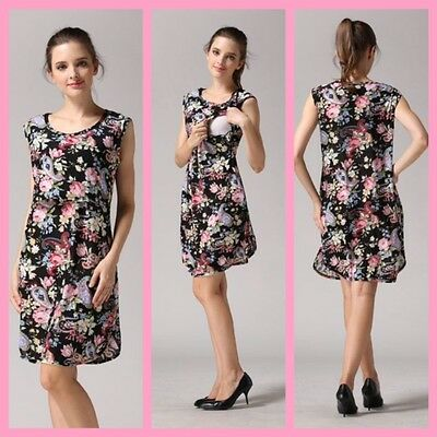 Sale!! Bnwt Black Maternity Breastfeeding Nursing Dress Size M L Xl 8 10 12 14