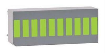 2X NEW NO.09J9182 Lumex Ssa-Lxb10Gw-Gf/Lp Bar Graph, 10-Led, Green, 8Mcd, 105Mw