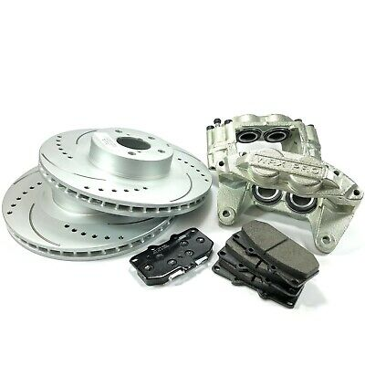 FRONT BRAKE CALIPERS/PERFORMANCE DISCS/PADS FITS: SUBARU IMPREZA inc WRX BCA014