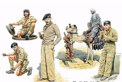Commonwealth Afv Crew English Troops In Ssnorthern Africa 1/35 Master Box 3564