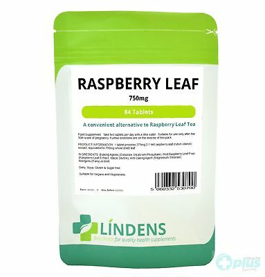 Raspberry Leaf Tea 84 Tablets 750mg Lindens Red Raspberry Extract