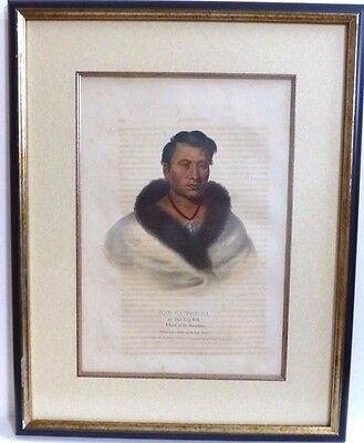 ONG-PA-TON-GA The Big Elk. McKenney & Hall. Hand-colored folio lithograph 1836