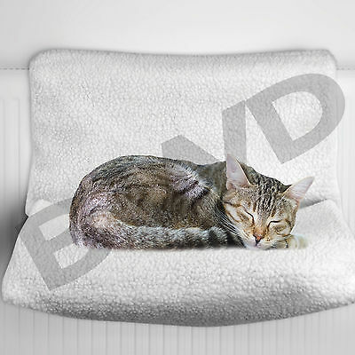 Pet Cat Puppy Kitten Radiator Bed Cradle Hammock Basket Warm Cosy Fleece Dog