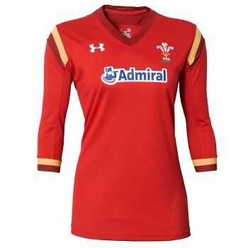 Under Armour Womens Wales Supporter Rugby Shirt Red