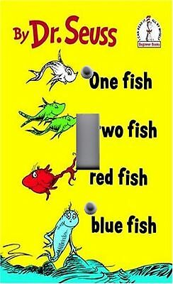 Light Switch Plate & Outlet Covers DR SEUSS ONE TWO RED BLUE FISH