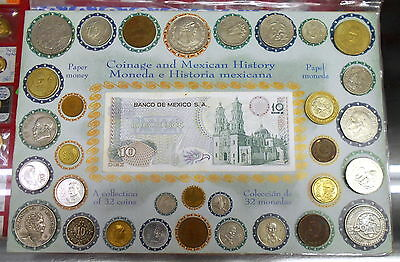 33-Piece Deluxe Collection - Coinage And Paper Money Of Mexico With Silver