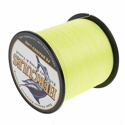 1000M 20LB Fluorescent Yellow Test pro Braid Fishing Line 0.20mm Dyneema Spectra