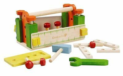 NEW Childrens Wooden Tool Box Workbench with Tools & Accessories