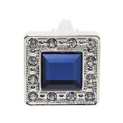 2X Silver Blue Crystal Square Men's Cuff Links Mens Wedding Party Cufflinks Hot