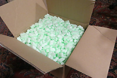 1 Box Packing Peanuts Foam Chips Packaging Loose Void Beanbags 0.78 cu ft approx