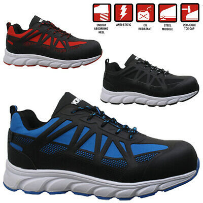 New Mens Lightweight Safety Steel Toe Cap Work Hiking Trainers Shoes Boots Size