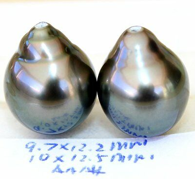 AAA+ 12.5, 12.2mm TAHITIAN SALTWATER PEARL HALF HOLE DRILLED