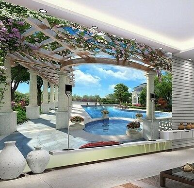 3D Wallpaper Bedroom Living Mural Roll Swimming Pool Luxury Wall Background TV