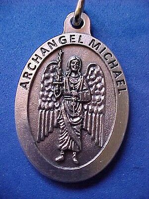 ARCHANGEL St MICHAEL Saint Medal Large 1-3/4-inches Long Protection Angel 1l