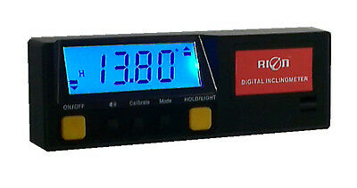 Rion Digital Inclinometer - Level, Angle Finder & Protractor 0.1° Resolution