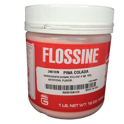 Gold Medal Cotton Candy Flossine 1 Pound Jar, Pina Colada
