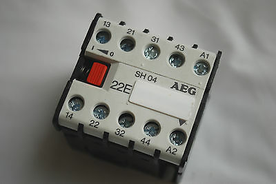 AEG Control Relay SH04 22E Fitted With 110V 50/60Hz Coil