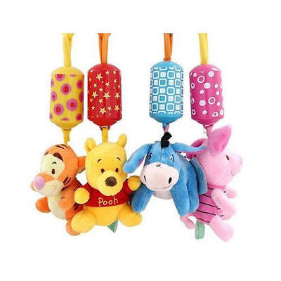 Newly Disney Animal Rattles Bed Stroller Hang Bells Developmental Kids Baby Toys