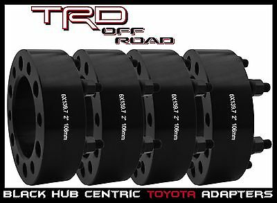 "4 Pc Toyota 2"" Thick Hub Centric Wheel Spacers 4 Runner Fj Cruiser Tacoma Tundra"