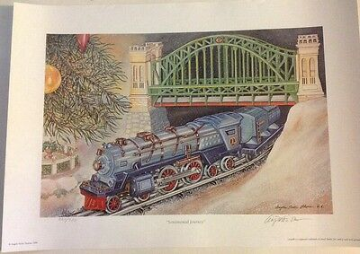 Angela Trotta Thomas Lionel Print-Sentimental Journey Signed And Numbered