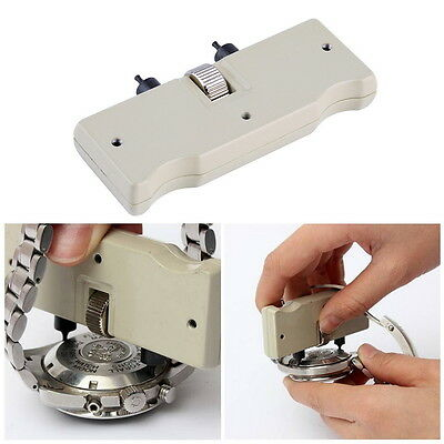 Watch Back Case Opener Screw Wrench Repair Tool Kit Cover Remover Adjustable OK