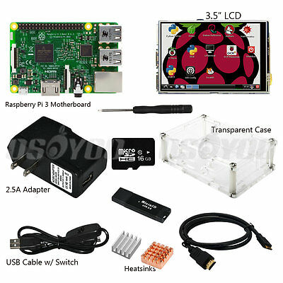 """3.5"""" inch LCD Touch Screen Display Kit w/ Case for Raspberry Pi 2 3 RPI Pi2 Pi3"""
