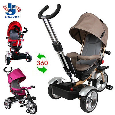 Kid Child Trike Bike Tricycle Ride On Toy Baby Toddler Pram Stoller Jogger Car