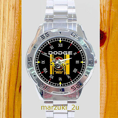 NEW RARE Dodge Rumble Bee CASUAL CUSTOM CHROME MEN'S WATCH WRISTWATCHES