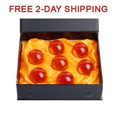 7pcs JP Anime DragonBall Z Stars Crystal Ball Set with Gift Box Pack Collection