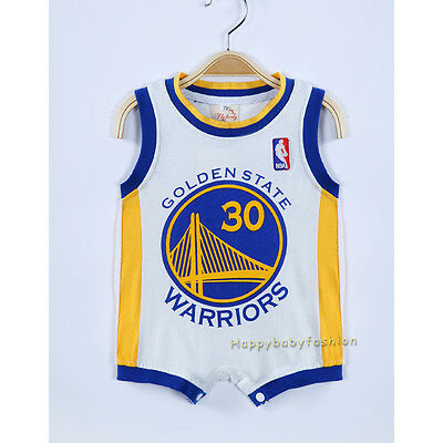 Baby Boy Romper NBA Basketball Jersey Golden State Warriors #30 CURRY # 00 0 1 2