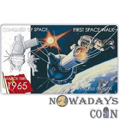 Niue 2011 2$ Conquest of Space First Space Walk .999 Proof Silver Coin 1Oz