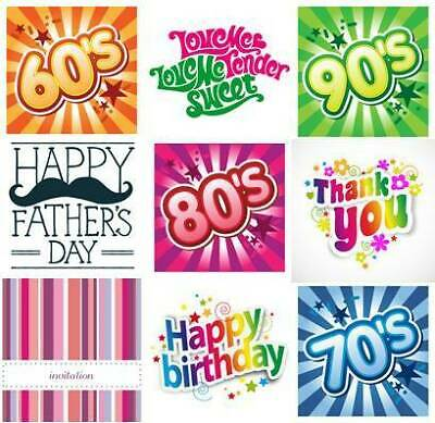Happy Birthday - Retro Silver Gift Box - Full Of Sweets - Letterbox Friendly