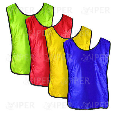 Football Training Sports Bibs Youth  Adult Sizes Rugby Hockey Net ball Running