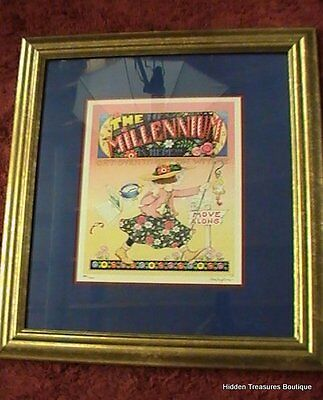 """Mary Engelbreit Signed & Numbered Print 385/1000 """"The Millennium is Here"""""""