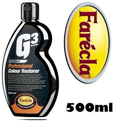 Farecla Professional G3 Colour Restorer 500Ml Color Paint Fade/scratch T Cut