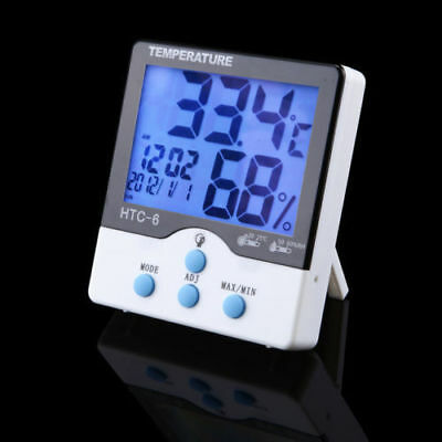 HTC-8 Luminous LCD Digital LED Night Light Thermometer Hygrometer Humidty Clock