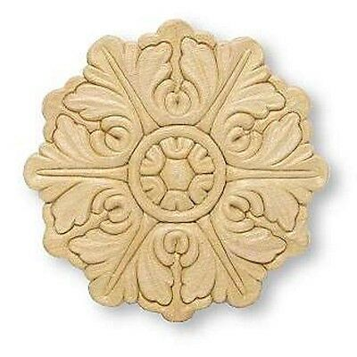 """Birch Applique ~ Large Round Medallion ~ REAL WOOD { 5"""" Diameter } ~ by  PLD"""