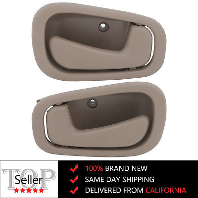 2x Beige Tan L/R Inside Door Handle Driver Side & Passenger fits Corolla 98-02