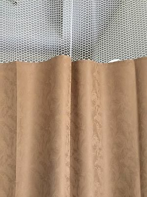 Curtain Caramel 96Wx93 HOSPITAL CLINIC LAB Antibacterial Antimicrobial medical