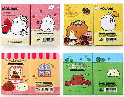 Cute Molang Animal Sticker Paste Bookmark Point Memo Flag Paper Sticky Note Book