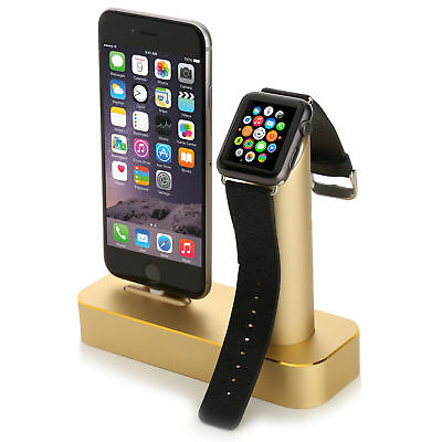 Aviato DUO Dockingstation für Apple Watch & iPhone - Gold