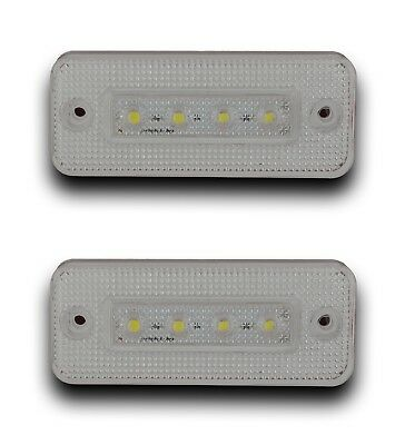 2X 12V 4Smd Led White Front Side Marker Lights Truck Lorry Trailer Bus Chassis